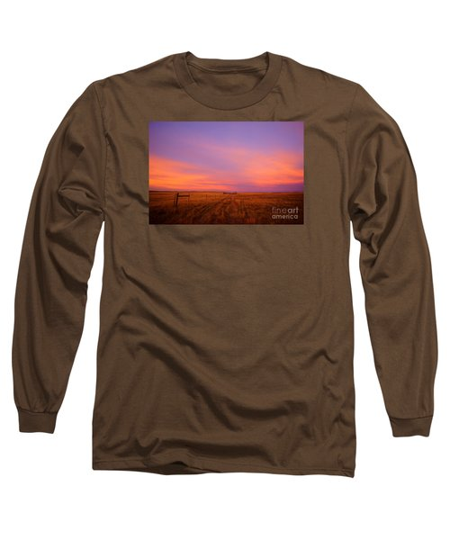 Sunset In Wyoming Long Sleeve T-Shirt