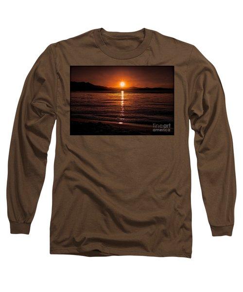Sunset Lake 810pm Textured Long Sleeve T-Shirt