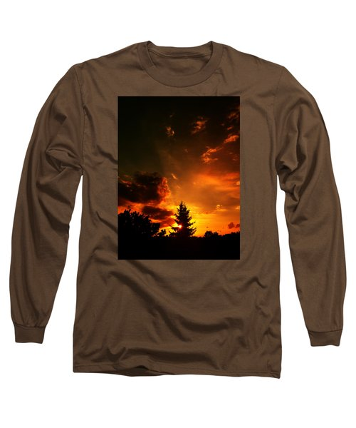 Sunset Madness Long Sleeve T-Shirt by Flavien Gillet