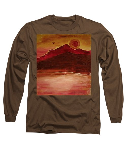 Sunset On Red Mountain Long Sleeve T-Shirt