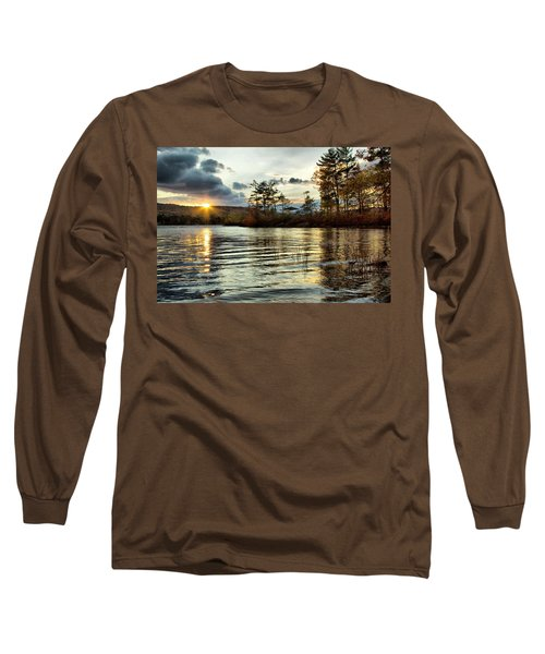 Sunset On Webster Lake  Long Sleeve T-Shirt