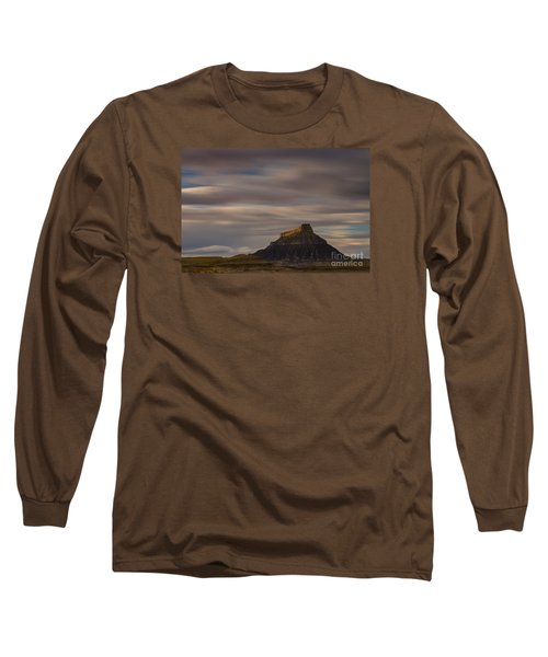 Long Sleeve T-Shirt featuring the photograph Sunset Over Factory Butte by Keith Kapple