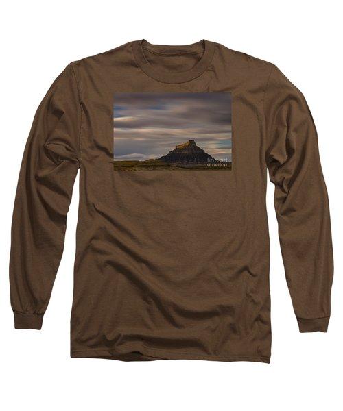 Sunset Over Factory Butte Long Sleeve T-Shirt