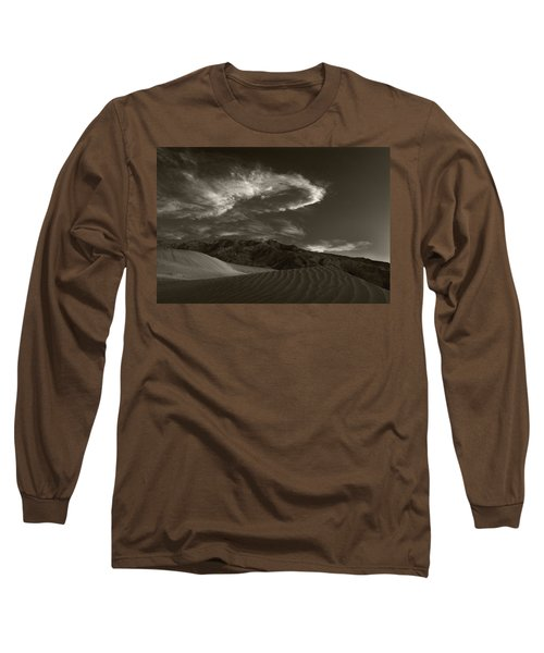Sunset Over Sand Dunes Death Valley Long Sleeve T-Shirt