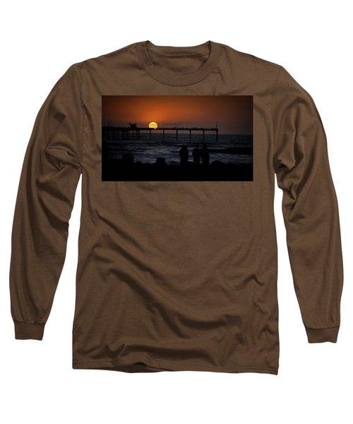 Sunset Over The Pier Long Sleeve T-Shirt