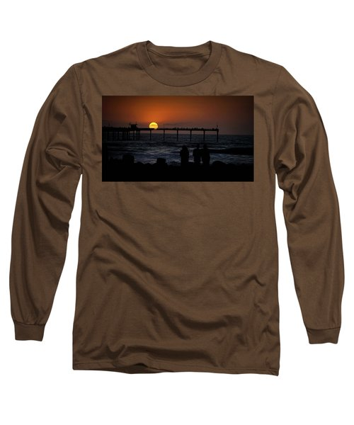 Sunset Over The Pier Long Sleeve T-Shirt