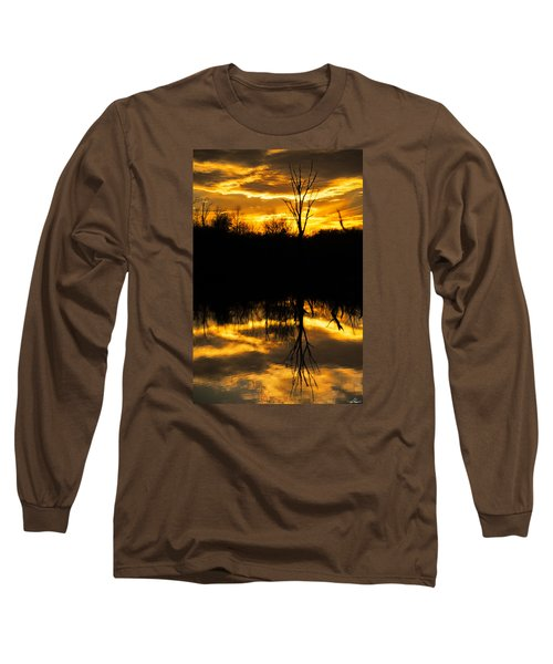 Sunset Over The Sabine River Long Sleeve T-Shirt