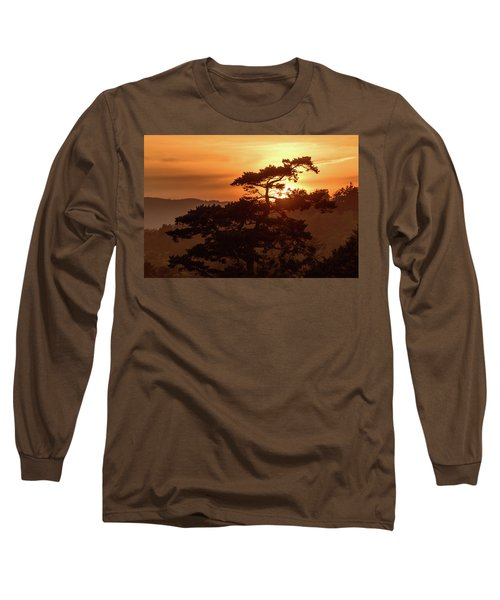 Sunset Silhouette Long Sleeve T-Shirt by Keith Boone
