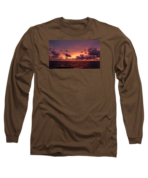 Sunset With Deep Purple Clouds Long Sleeve T-Shirt