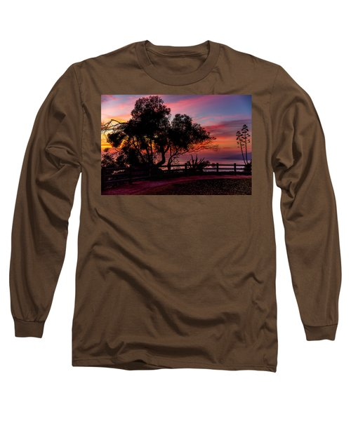Sunset Silhouettes From Palisades Park Long Sleeve T-Shirt