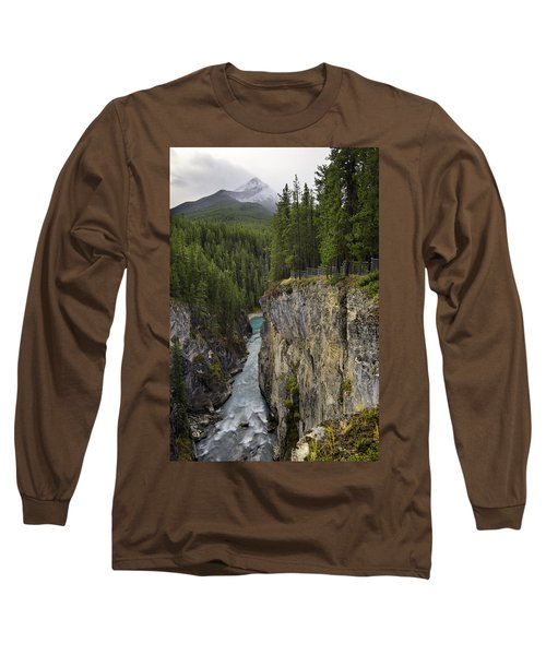 Sunwapta Falls Canyon Long Sleeve T-Shirt