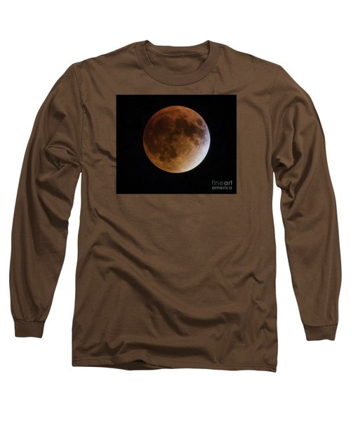 Long Sleeve T-Shirt featuring the photograph Super Blood Moon Lunar Eclipses by Ricky L Jones