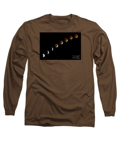 Super Blood Moon Time Lapse Long Sleeve T-Shirt by Jennifer White