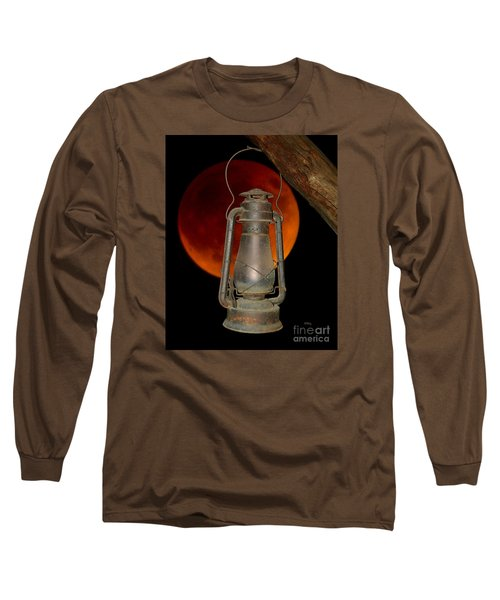 Long Sleeve T-Shirt featuring the photograph Eerie Light Of An Eclipsed Super-moon by Patrick Witz