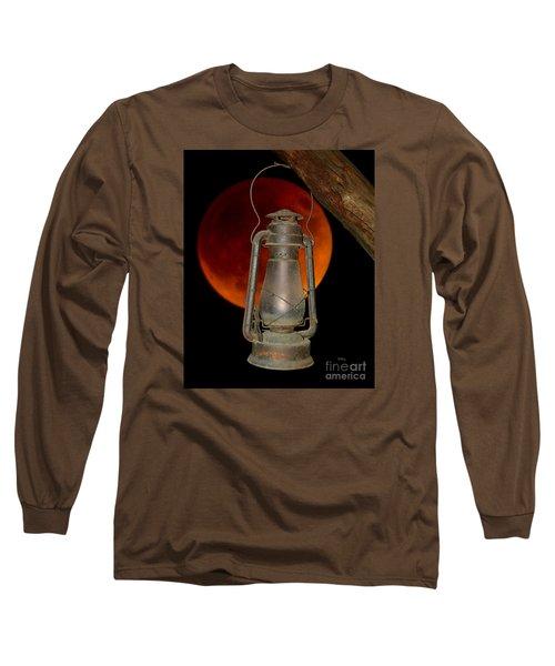 Eerie Light Of An Eclipsed Super-moon Long Sleeve T-Shirt