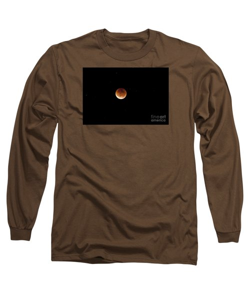 Super Moon Lunar Elipse Images- 2015 Long Sleeve T-Shirt by Janie Johnson