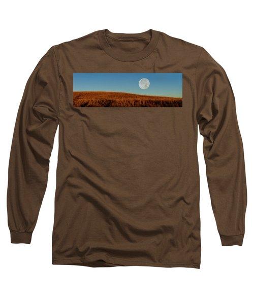 Super Moon Over The Prairie Long Sleeve T-Shirt