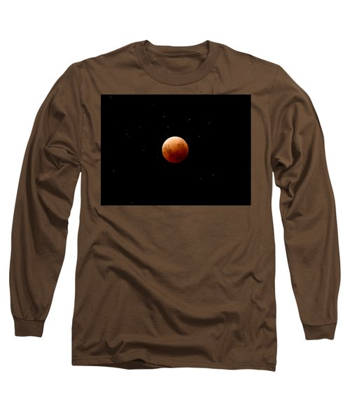 Super Red Blue Moon Eclipse Long Sleeve T-Shirt