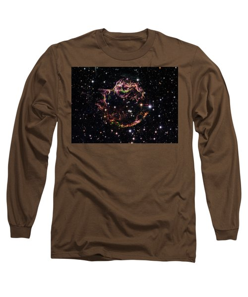 Long Sleeve T-Shirt featuring the photograph Supernova Remnant Cassiopeia A by Marco Oliveira