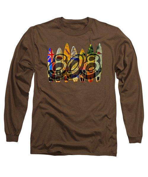 Long Sleeve T-Shirt featuring the photograph Surfin' 808 by DJ Florek