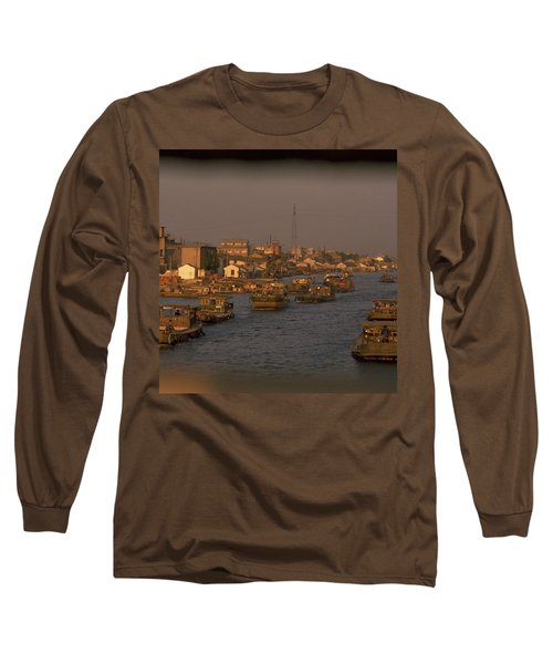 Long Sleeve T-Shirt featuring the photograph Suzhou Grand Canal by Travel Pics