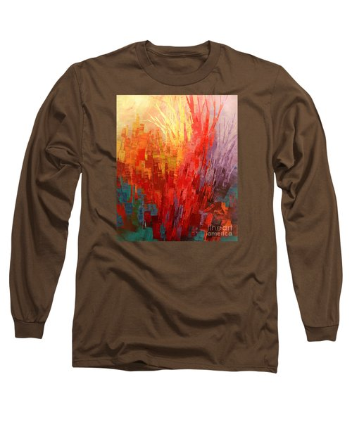 Long Sleeve T-Shirt featuring the painting Swagger Of A Troubador by Tatiana Iliina