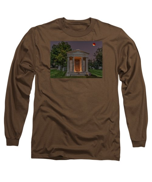 Swallow Mausoleum Under The Blood Moon Long Sleeve T-Shirt by Stephen  Johnson