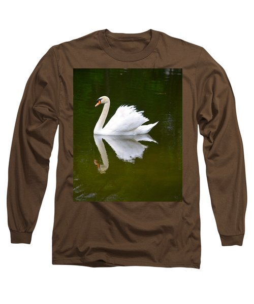 Swan Reflecting Long Sleeve T-Shirt by Richard Bryce and Family