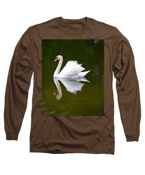 Swan Reflecting Long Sleeve T-Shirt