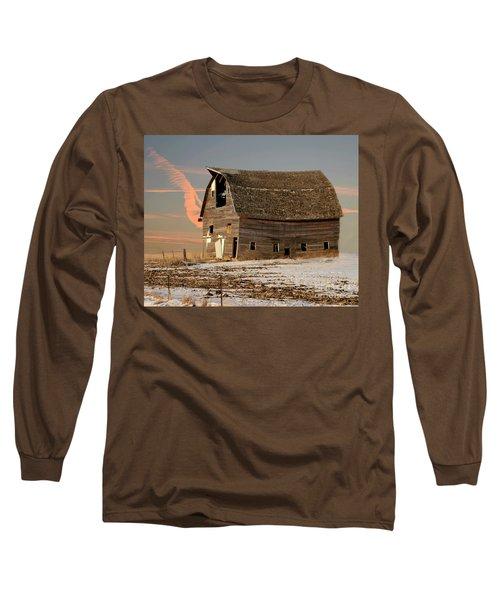 Swayback Barn Long Sleeve T-Shirt by Kathy M Krause