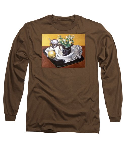 Long Sleeve T-Shirt featuring the painting Sweet And Sour by Laura Aceto
