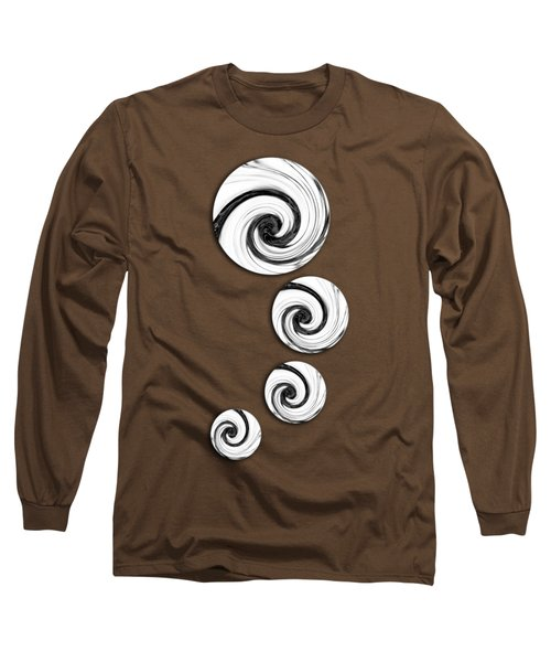 Long Sleeve T-Shirt featuring the digital art Swirling Round by Shawna Rowe