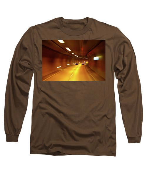 Long Sleeve T-Shirt featuring the photograph Swiss Alpine Tunnel by KG Thienemann