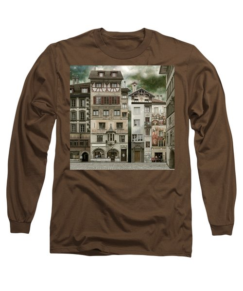 Swiss Reconstruction Long Sleeve T-Shirt by Joan Ladendorf