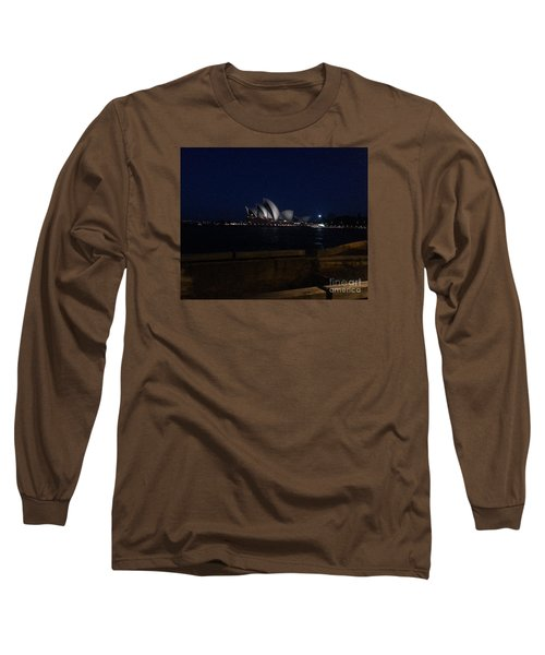 Sydney Opera House At Night Long Sleeve T-Shirt by Bev Conover