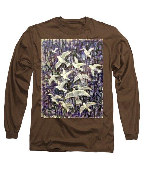 Symbol  Of Peace Long Sleeve T-Shirt by Laila Awad Jamaleldin