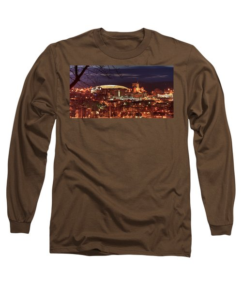 Syracuse Dome At Night Long Sleeve T-Shirt by Everet Regal