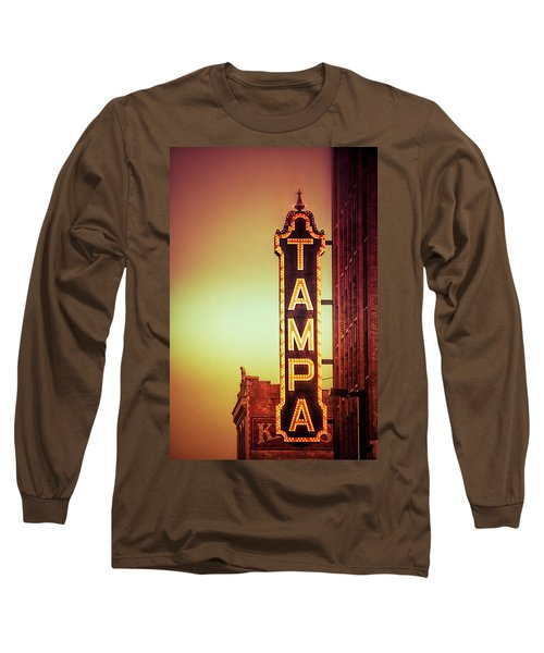 Long Sleeve T-Shirt featuring the photograph Tampa Theatre by Carolyn Marshall