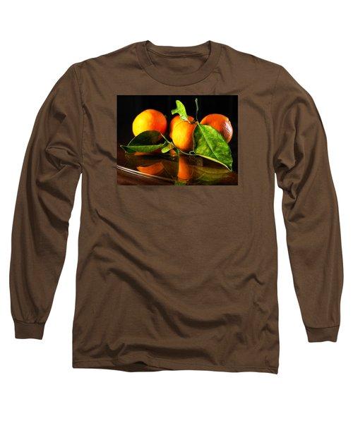 Tangerines Long Sleeve T-Shirt by Robert Och