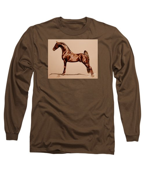 Tangos Daylight - Saddlebred Stallion Long Sleeve T-Shirt