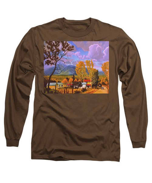 Taos Red Roofs Long Sleeve T-Shirt