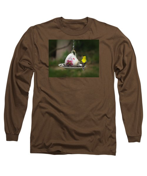 Teacup Finch Long Sleeve T-Shirt by MTBobbins Photography