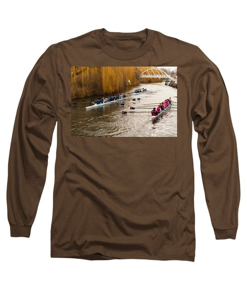 Teams Of Rowers On River Cam Long Sleeve T-Shirt