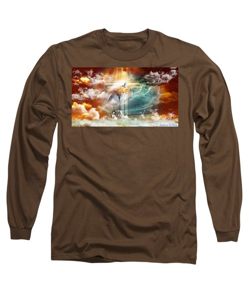 Long Sleeve T-Shirt featuring the digital art Tears To Triumph by Dolores Develde