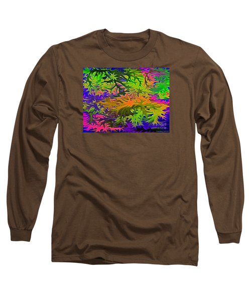 Technicolor Leaves Long Sleeve T-Shirt by Patricia Griffin Brett
