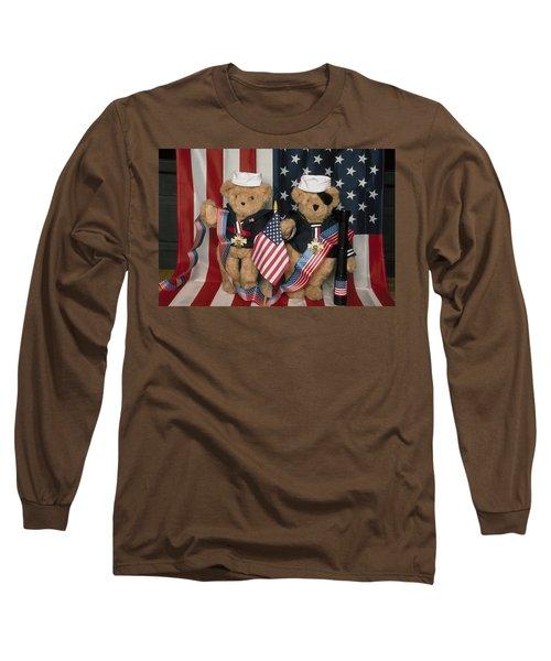 Teddy Bears In America Long Sleeve T-Shirt