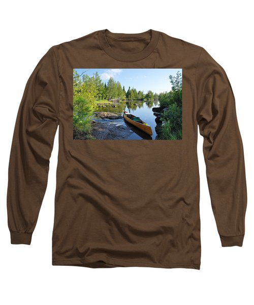 Temperance River Portage Long Sleeve T-Shirt by Larry Ricker