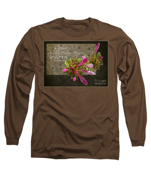 Tender Mercies Long Sleeve T-Shirt by Debbie Portwood