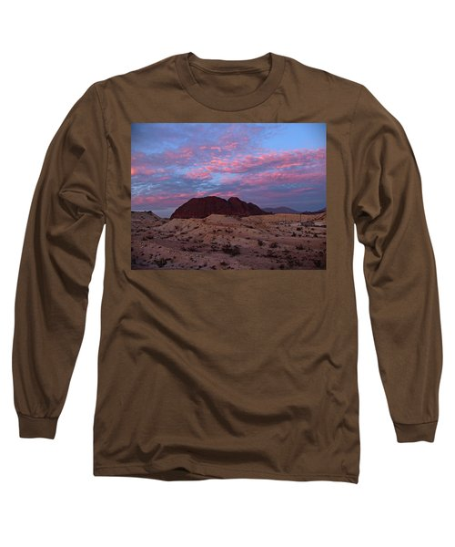 Long Sleeve T-Shirt featuring the painting Terlingua Sunset by Dennis Ciscel