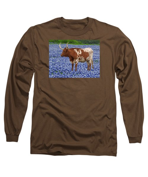 Da227 Tex And The Bluebonnets Daniel Adams Long Sleeve T-Shirt